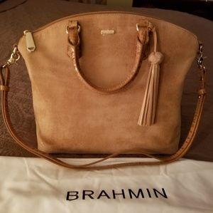 Handbags - Brahmin Large Duxbury Satchel Tan